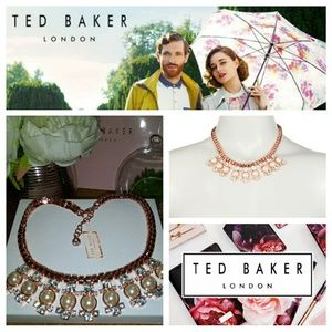 Ted BakerLondon Rose Gold Pearl Statement Necklace